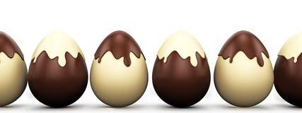 Sistema de los huevos de Pascua Imagen de archivo libre de regalías