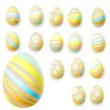 Sistema de los huevos de Pascua EPS 10 Fotografía de archivo