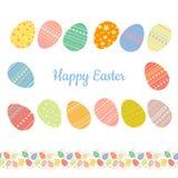 Sistema de los huevos de Pascua coloridos con diversos modelos libre illustration