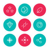 sistema de los iconos abstractos para el interfaz del web Fotos de archivo