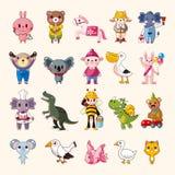 Sistema de los iconos animales Foto de archivo libre de regalías
