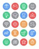 Sistema de los iconos de Gamification Fotos de archivo libres de regalías