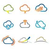 Sistema de los iconos 2 de la nube imágenes de archivo libres de regalías