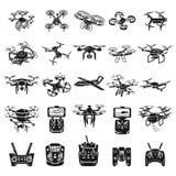 Sistema de los iconos del abejón, estilo simple libre illustration