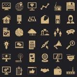 Sistema de los iconos del fichero de los Adv, estilo simple ilustración del vector