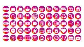 Sistema de los iconos del negocio de las historias de Instagram ilustración del vector