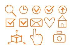 Sistema de los iconos del negocio para el diseño Imágenes de archivo libres de regalías