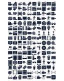 Sistema de los iconos del vector del cine que puede ser modificado o corregir f?cilmente stock de ilustración