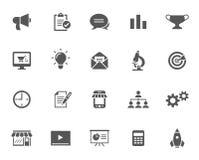 Sistema de los iconos del vector para comercializar Imágenes de archivo libres de regalías