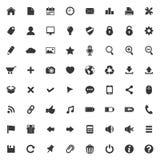 Sistema de los iconos del vector para el web y la aplicación móvil Imagenes de archivo