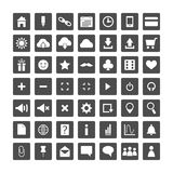 Sistema de los iconos del web para el negocio, y comunicación Imágenes de archivo libres de regalías