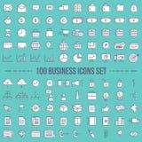 Sistema de los iconos del web para el vector del negocio y de las finanzas ilustración del vector