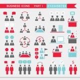 Sistema de los iconos del web para la comunicación de oficina de las finanzas del negocio Fotografía de archivo libre de regalías