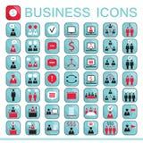 Sistema de los iconos del web para las finanzas del negocio Fotografía de archivo