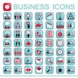 Sistema de los iconos del web para las finanzas del negocio Imagen de archivo