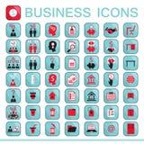 Sistema de los iconos del web para las finanzas del negocio Imágenes de archivo libres de regalías