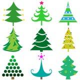 Sistema de los iconos grandes para cualquier uso, vector EPS10 del árbol de navidad Fotografía de archivo libre de regalías