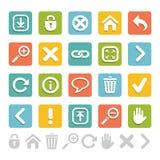 Sistema de los iconos grandes para cualquier uso, vector EPS10 del sitio web Fotografía de archivo