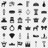 Sistema de los iconos de la autoridad, estilo simple libre illustration