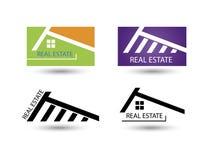 Sistema de los iconos para el negocio de las propiedades inmobiliarias Imágenes de archivo libres de regalías