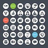 Sistema de los iconos para el negocio, las finanzas y el communicati stock de ilustración
