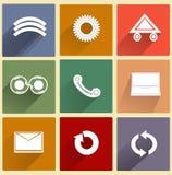 Sistema de los iconos para el web usando Fotos de archivo
