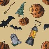 Sistema de los iconos para Halloween stock de ilustración