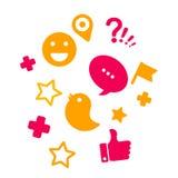 Sistema de los iconos para las redes sociales Fotografía de archivo libre de regalías