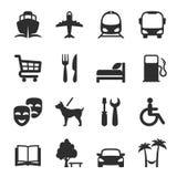 Sistema de los iconos para las ubicaciones y los servicios Fotos de archivo libres de regalías