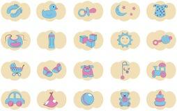 Iconos de la niñez Imagenes de archivo