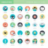 Sistema de los iconos planos del diseño para la salida Foto de archivo libre de regalías