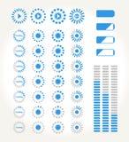 Fluir iconos stock de ilustración