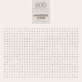 Sistema de los iconos universales para el web y el móvil Foto de archivo