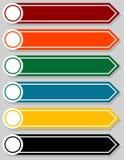 Sistema de los indicadores en blanco de Infographic Fotos de archivo libres de regalías