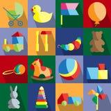 Sistema de los juguetes para los niños Fotografía de archivo libre de regalías