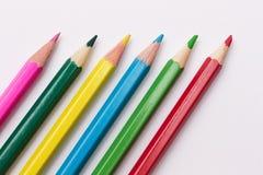 Sistema de los lápices de diversos colores para el lesson_ del dibujo imagenes de archivo