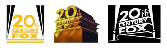 Sistema de los logotipos famosos de los estudios cinematográficos libre illustration