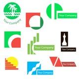 Sistema de los logotipos para el diseño Imagenes de archivo