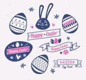 Sistema de los logotipos y de las etiquetas de Pascua Ejemplo lindo del vector stock de ilustración