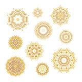 Sistema de los modelos de oro stock de ilustración