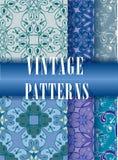 Sistema de los modelos del vintage para las materias textiles Foto de archivo libre de regalías