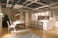 Sistema de los muebles de la exhibición de la tienda de IKEA Coquitlam Imágenes de archivo libres de regalías