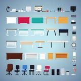 Sistema de los muebles de oficinas Fotografía de archivo libre de regalías