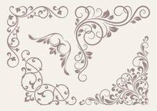 Sistema de los ornamentos de la esquina. stock de ilustración