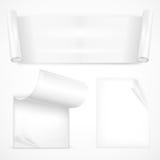 Sistema de los papeles blancos de la hoja Foto de archivo