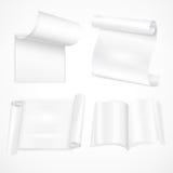 Sistema de los papeles blancos de la hoja Fotografía de archivo libre de regalías