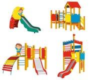Sistema de los patios para los niños Fotografía de archivo