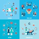 Sistema de los personales médicos ilustración del vector