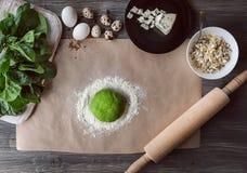 Sistema de los productos para cocinar Foto de archivo libre de regalías