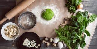 Sistema de los productos para cocinar Imagenes de archivo